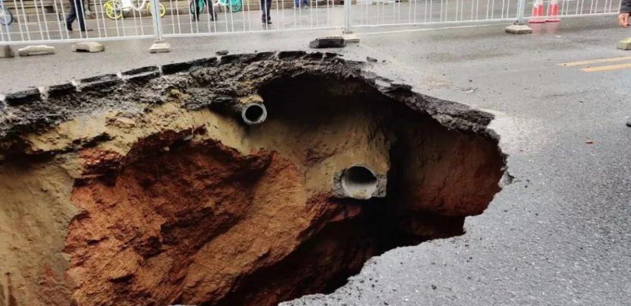 又一起下水管道网管破裂导致的路面塌陷,盘点近年来同类事故
